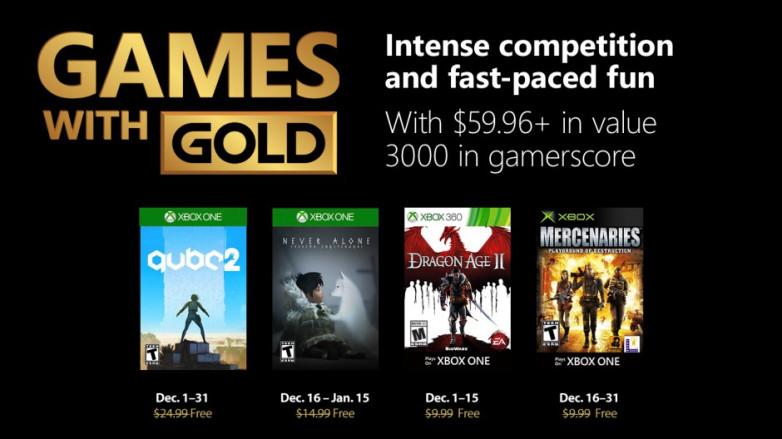 Xbox | Games with Gold de dezembro terá Q.U.B.E. 2 e Dragon Age II