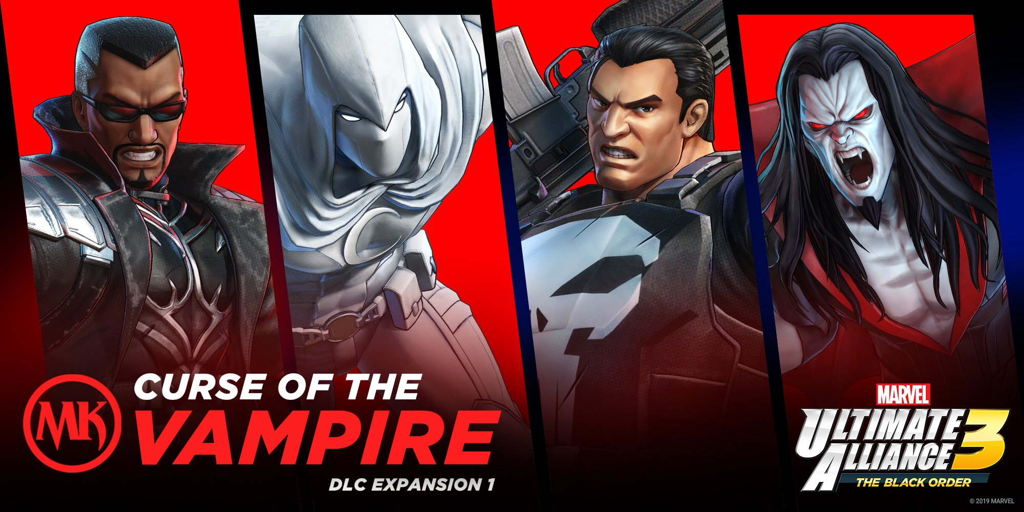 Marvel Ultimate Alliance 3: The Black Order | Primeiro DLC do game conta com Blade, Cavaleiro da Lua, Justiceiro e Morbius.